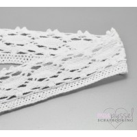 2 m white lace in cotton-5 cm
