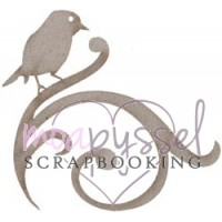 Lasercut-FabScraps-Bird at swirl