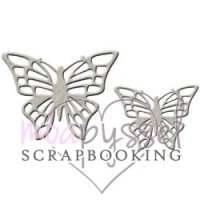 Lasercut-FabScraps-Two butterflies