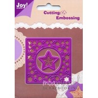 Dies-Joy-square with star pattern