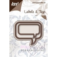 Dies - Joy - Labels & Tags - Pratbubblor/rektanglar 6002/0206