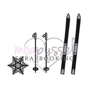 Dies-Marianne design-ski and snow flake CR1252