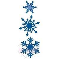 Dies-Marianne design-Creatables-Three snowflakes-LR0123