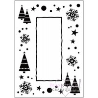 Embossing folder-Let it snow Frame-Crafts Too
