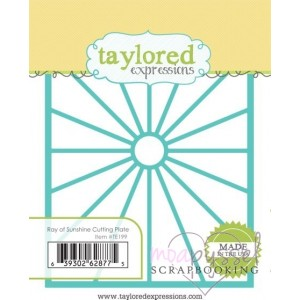 Dies - Taylored Expressions - Ray of Sunshine Cutting Plate