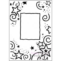 Embossing folder - Stars Frame - Crafts-Too