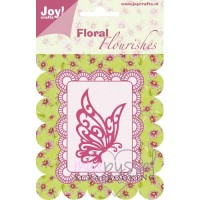Dies-Joy-Floral Flourishes-Butterfly in profile-6003/0006