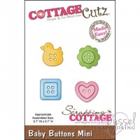 Dies-Cottage Cutz-Baby Buttons mini