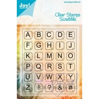 Joy - Clear stamps - Scrabble