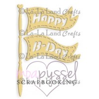 Dies - La-La Land Crafts - Birthday Flag