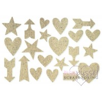 D I Y - Stickers - Burlap - Hearts
