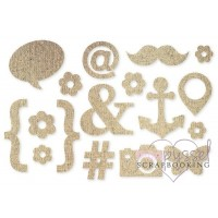 D I Y-Burlap stickers-Icons