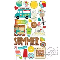 Simple Stories-Chipboard stickers-Good day sunshine