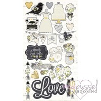 Simple Stories - The story of Us - Chipboard stickers