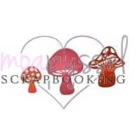 Dies - Cheery Lynn - Faerie Mushrooms - 3 svampar