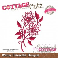 Dies - Cottage Cutz - Winter Poinsettia Bouquet