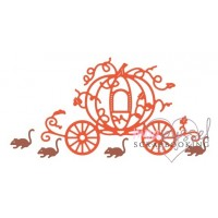 Cheery lynn - Pumpkin Carriage with mice