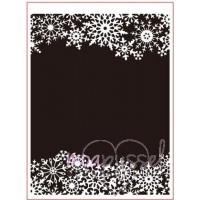 Embossing folder - Dixi Craft - Snöflingeram