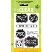 Hero Arts - Clear stamps - Chalkboard style messages