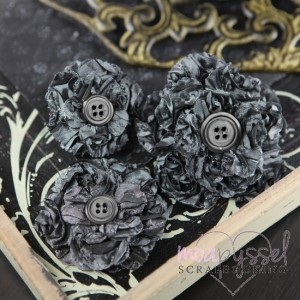 Button Blossom Steel - Black