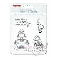 ScrapBerry´s - Silicone stamps set - For Wedding