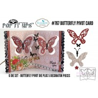 Elizabet Crafts design - dies - Butterfly Pivot Card