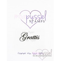 Moa Pyssel - Clear stamps - Grattis