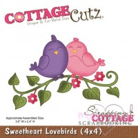 Dies - Cottage Cutz - Sweetheart Lovebirds
