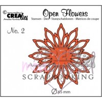 Dies - Crealies - Open Flowers No 2