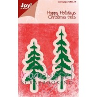 Dies - Joy - Happy Holidays - Christmas Trees - 6002/2056