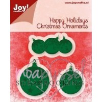 Dies - Joy crafts - Happy Holidays - Christmas Ornaments - 6002/2030