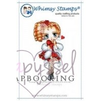 Whimsy stamps - stämpel - Art by Mi Ran - Love and kisses with Tia