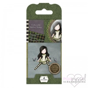 Gorjuss Girls - Mini stamps - No 12 On top of the world