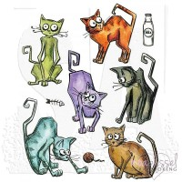 Tim Holtz Cling stamps - Crazy Cats