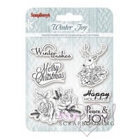 ScrapBerry´s - Silicone stamps set - Winter Joy 03b