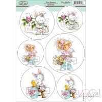 **Toppers a la Hobby House - Wee stamps - Wee Bunnies