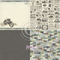 **Pion Design - Mister Tom´s Treasures - 6 x6 inch - Tom´s motorcycle