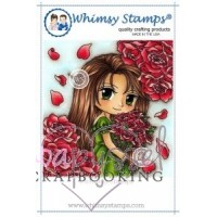 Whimsy stamps - stämpel - Art by Mi Ran - Rose Garden
