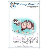 Whimsy stamps - stämpel - Chrissy Armstrong - Birdie Selfie