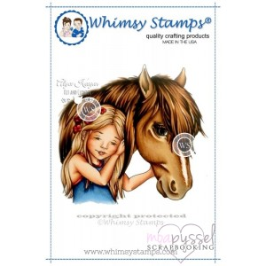 Whimsy stamps - stämpel - Chrissy Armstrong - Best of Friends Girl