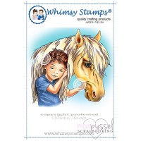 Whimsy stamps - stämpel - Chrissy Armstrong - Best of Friends Boy
