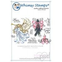 Whimsy stamps - stämpel - Chrissy Armstrong - Peace on Earth