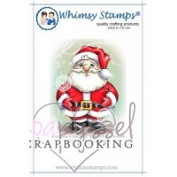 Whimsy stamps - stämpel - Chrissy Armstrong - Jolly Little Santa