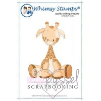 Whimsy stamps - stämpel - Lee Holland - Baby Giraffe