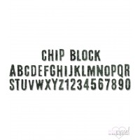 Sizzix - Tim Holtz - Alfabetsdies - Chip block