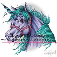 C.C. Designs - stamps - Unicorn JD1051