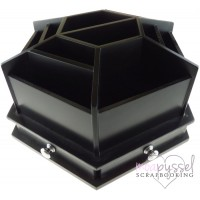 Spinning storage for scrapbooking - White Spinning Boxes