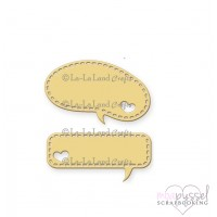 Dies - La La Land crafts - Heart Speech Bubbles