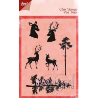 Clear stamps - Joy Crafts - Rådjur och Tallar