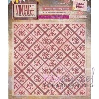 6 x 6 inch - Crafters Companion -Vintage Floral Collection - Rose Plaid